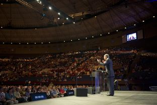 David Dewhurst makes a final statement during his speech to the Texas Republican Convention on June 9, 2012.
