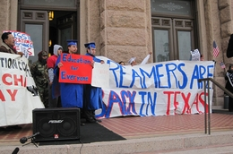 Dream Act supporters on the capitol steps