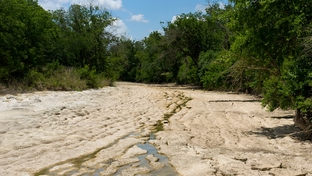 The Blanco River during the big drought of 2011. June 4th, 2011.