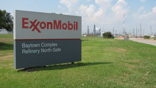Exxon Mobil refinery in Baytown, Texas