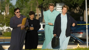 FLDS sect members arrive at the Tom Green County Courthouse in 2008 for a court hearing on hundreds of children taken into state custody.