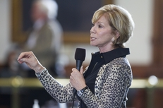Sen. Florence Shapiro, R-Plano, debates a bill on the Senate floor on May 25, 2011.