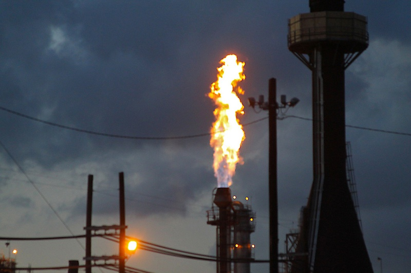 Increase in flaring tied to pipeline shortages the for La porte tx water department