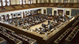 The House chamber below a mostly empty gallery during the final days of the special session on June 27, 2011.