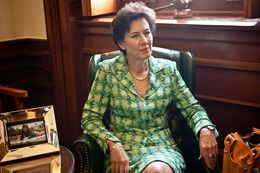 Texas Insurance Commissioner Eleanor Kitzman, shown in the capitol office of state Sen. John Carona, R-Dallas.