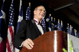 Dr. James Leininger at an Austin reception on Sept. 11th, 2009