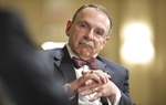 Texas A&M President R. Bowen Loftin at TribLive on April 28, 2011.