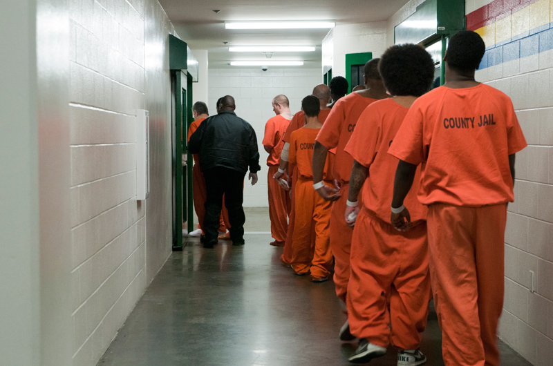 Nearly one-quarter of the 10,000 inmates at the Harris County Jail are