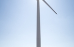 A wind turbine in Nolan County.