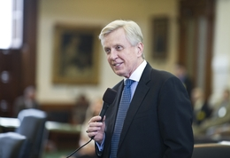 "Sen. Bob Duell, R-Greenville, debates the ""noodling"" bill regarding a bare-handed catfishing technique during debate on May 19, 2011."