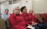 Members of the O.W.L.S. citizens watchdog group in Hidalgo, TX listen to Voter ID testimony at a committee hearing on March 1, 2011
