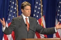 Gov. Rick Perry announces his presidential bid in South Carolina on Aug. 13, 2011.