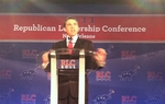 Gov. Rick Perry's Saturday speech during the Republican Leadership Conference at the Hilton New Orleans Riverside Hotel.