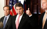 House Speaker Joe Straus, Gov. Rick Perry and Lt. Gov. David Dewhurst