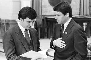 Toomey with Perry in the Texas House in 1985.