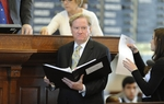 Rep. Jim Pitts, R-Waxahachie, chairman of the House Appropriations Committee, listens to HB4 debate on amendments on March 31, 2011.
