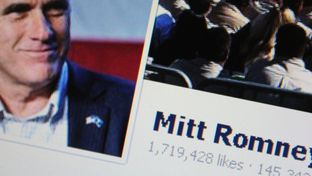 Picture of Mitt Romney's Facebook page