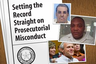 The Texas District and County Attorneys Association released a report Monday about prosecutorial misconduct in the wake of the Michael Morton (pictured at bottom) exoneration. Among the examples discussed in the report are the cases of Delma Banks (top) and Anthony Graves (center).