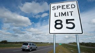 Speed limit on the new portion of SH130 will be 85MPH as the opening ceremonies for the final southern portion of SH130 toll road from Georgetown, TX north of Austin to Seguin near San Antonio.