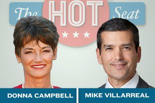 """The Hot Seat"" featuring Donna Campbell and Mike Villerreal in San Antonio"