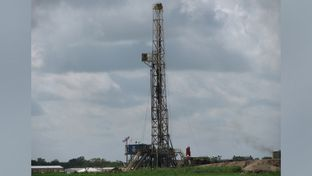 Drilling rig in DeWitt County