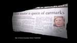 "Screen shot of Gov. Rick Perry's ad, ""The Queen."""