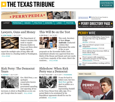 Perrypedia is a curated, one-stop location for news and information on Rick Perry.