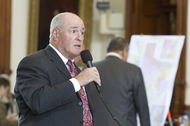 Sen. Kel Seliger, R-Amarillo, debates the congressional redistricting bill SB4 on the Senate floor on June 6, 2011.