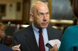 Sen. John Whitmire, D-Houston, speaks with reporter on January 9, 2013