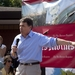 Rick Perry speaks at the soapbox at the Iowa State Fair on August 15, 2011.