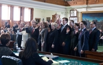 Swearing in on the senate floor
