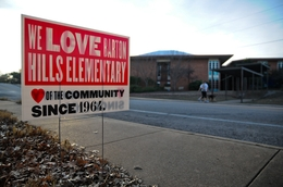 Barton Hills Elementary is one of eight that may close in Austin Independent School District.