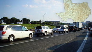 Traffic congestion on Interstate 35 in Austin. The freeway through central Austin is among the state's most congested road segments, according to a TxDOT study.