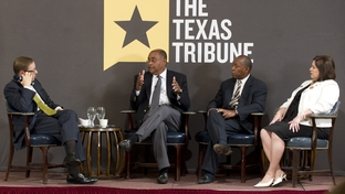 Texas Democratic legislators (l to r) State Sen. Rodney Ellis, D-Houston, State Rep. Sylvester Turner, D-Houston, and State Sen. Leticia Van de Putte, D-San Antonio, at TriBLive on May 19, 2011.