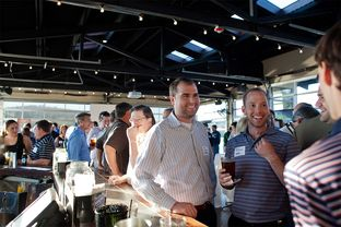 About 175 people attended a happy hour held by the Austin Petroleum Exploration Society on Nov. 1. Austin is increasingly becoming an oil and gas hub.