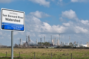 The Conoco Phillips Sweeny refinery in Old Ocean on February 21, 2012 along Texas 35.