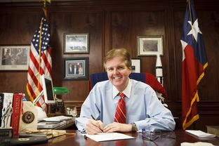 Texas Senator Dan Patrick in his Houston Disctrict 7 office in Houston Tuesday, October 23, 2012.