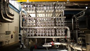 Seen is the inside of the Kay Bailey Hutchison Desalination Plant on April 16, 2012. The $87 million facility produces 27.5 million gallons of water per day, making it the largest inland desalination plant in the world.