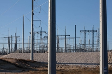 An electrical substation in Comfort, Texas.