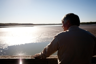 Keith Tilley, director of public works for the town of Groesbeck , photographed at Fort Parker Lake i Fort Parker State Park.