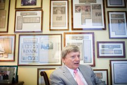 Lawyer Rusty Hardin in his Houston office on Tuesday, July 17, 2012.