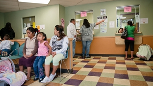 The waiting room at People's Community Clinic in Austin, TX in November 2010.