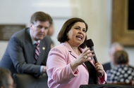Sen. Leticia Van de Putte, D-San Antonio, speaks on the Senate floor against the state budget on third reading on May 4, 2011.