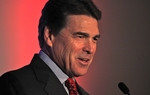Gov. Rick Perry speaking at a Veterans for a Strong America event in Des Moines, Iowa, on Dec. 10, 2011.