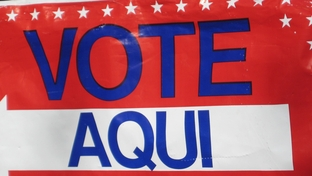 "Picture of ""Vote Aqui"" sign during 2010 elections."
