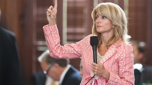 Sen. Wendy Davis D-Fort Worth on the Senate floor May 23rd, 2011