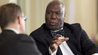 Railroad Commissioner Michael Williams announces U.S. Senate candidacy at TribLive on January 27, 2011.