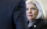 State Sen. Judith Zaffirini, D-Laredo, listens to a colleague while discussing SB5 on April 28, 2011.