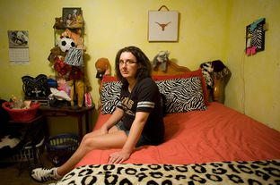 Michelle Gaines, 26, in her bedroom in Palestine, TX, on Sunday, July 22, 2012.