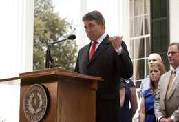July 18th , 2012: Gov. Rick Perry announces that Texas Governor's Mansion has been fully restored.